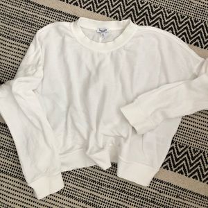 Splendid white crop sweatshirt